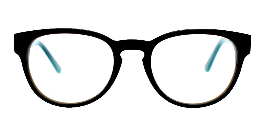 Auberry Cheap Eyeglasses Black Blue