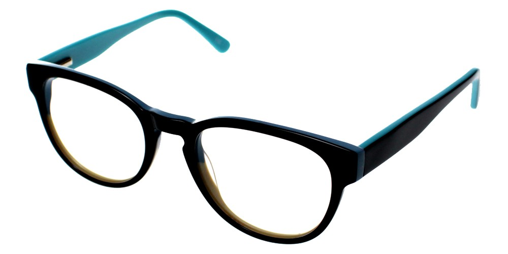 Auberry Discount Eyeglasses Black Blue